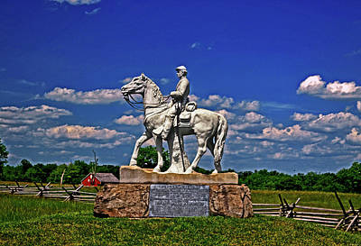 Photograph - Gettysburg - 8th Pennsylvania Cavalry Monument 001 by George Bostian