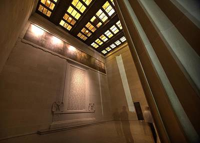 Photograph - Gettysburg Address--inside The Lincoln Memorial by John King