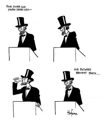Drawing - Gettysburg Address Interrupted by Kaamran Hafeez