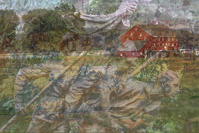 Infantry Digital Art - Gettysburg Back In Time by Randy Steele