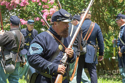 Photograph - Gettysburg Battle Reenactment by Kevin McCarthy