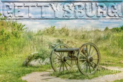 Gettysburg Battlefield Cannon Art Print by Randy Steele