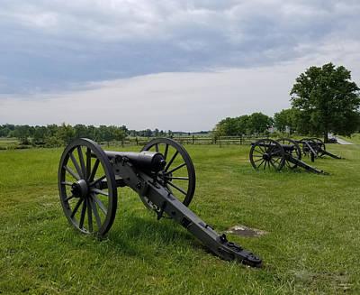 Photograph - Gettysburg Battlefield Cannons by Judith Rhue