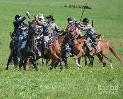 Photograph - Gettysburg Cavalry Battle 7948c  by Cynthia Staley