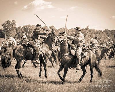 Gettysburg Cavalry Battle 7978s  Art Print