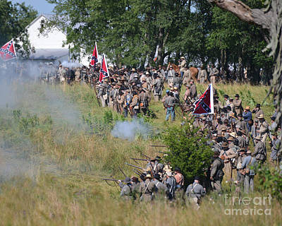Photograph - Gettysburg Confederate Infantry 8825c by Cynthia Staley
