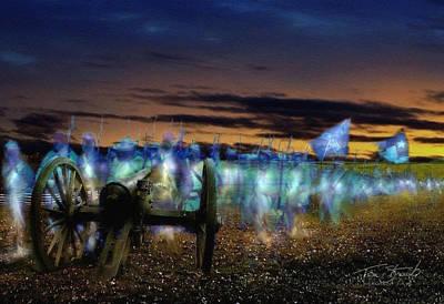 President Lincoln Digital Art - Gettysburg Confederates by Tom Straub