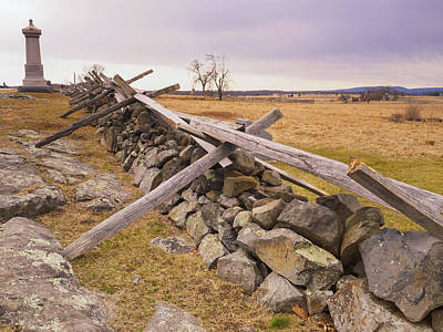 Photograph - Gettysburg Fences And Battlefields I by Marianne Campolongo