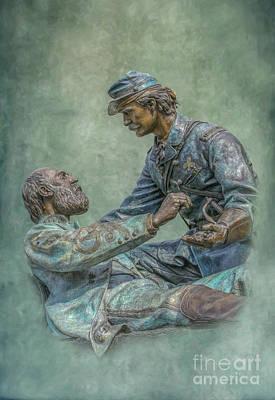 National Cemetery Digital Art - Gettysburg Friend To Friend Monument by Randy Steele