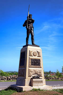 Gettysburg National Park 11th Pennsylvania Infantry Memorial Art Print by Olivier Le Queinec