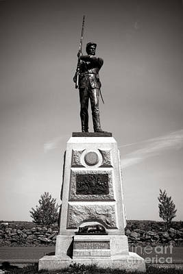 Gettysburg National Park 11th Pennsylvania Infantry Monument Art Print by Olivier Le Queinec