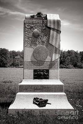 Volunteer Infantry Photograph - Gettysburg National Park 121st Pennsylvania Infantry Monument by Olivier Le Queinec