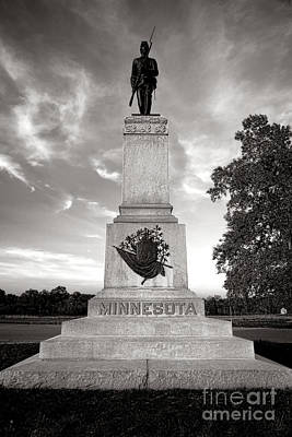 Gettysburg National Park 1st Minnesota Infantry Monument Art Print by Olivier Le Queinec