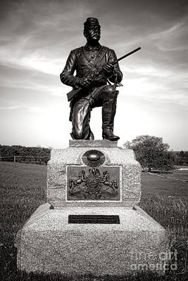 Gettysburg National Park 1st Pennsylvania Cavalry Monument Art Print by Olivier Le Queinec