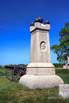 Gettysburg National Park 2nd Maine Battery Memorial Art Print by Olivier Le Queinec