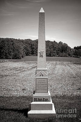Gettysburg National Park 3rd Indiana Cavalry Monument Art Print by Olivier Le Queinec