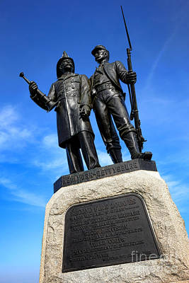 Gettysburg National Park 73rd Ny Infantry Second Fire Zouaves Memorial Art Print by Olivier Le Queinec