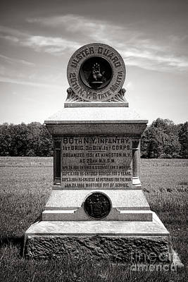 Confederate Monument Photograph - Gettysburg National Park 80th New York Infantry Militia Monument by Olivier Le Queinec