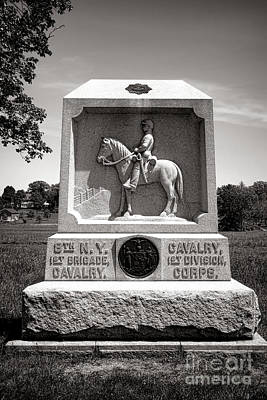 Gettysburg National Park 8th New York Cavalry Monument Art Print by Olivier Le Queinec