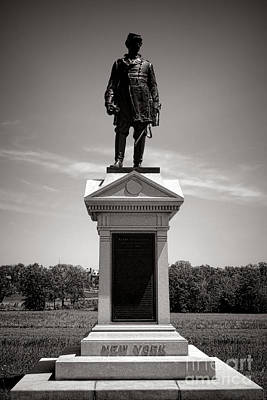 Gettysburg National Park Abner Doubleday Monument Art Print by Olivier Le Queinec