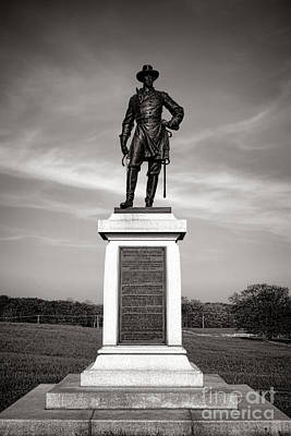 Confederate Monument Photograph - Gettysburg National Park Brigadier General Alexander Webb Monument by Olivier Le Queinec