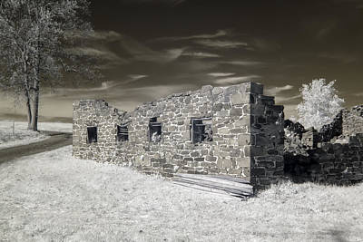 Photograph - Gettysburg - Rose Farm Ruins by Liza Eckardt