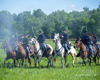 Gettysburg  Union Cavalry Art Print