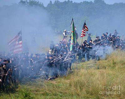 Gettysburg Union Infantry 8947c Art Print