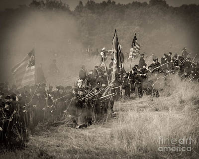 Photograph - Gettysburg Union Infantry 8947s by Cynthia Staley