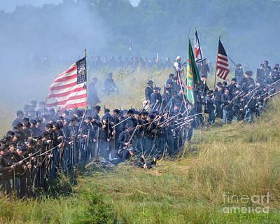 Gettysburg Union Infantry 8948c Art Print