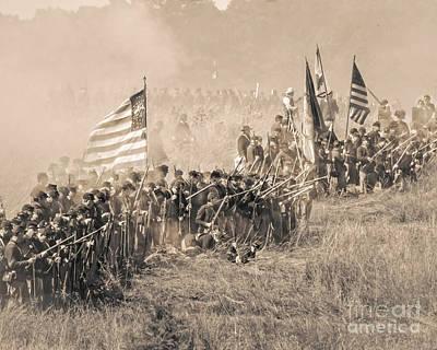 Gettysburg Union Infantry 8948s Art Print