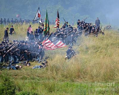 Gettysburg Union Infantry 8963c Art Print
