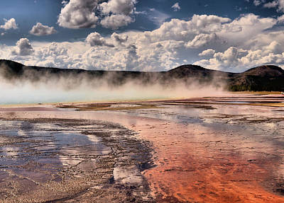 Photograph - Geyser Basin by Bill Hosford
