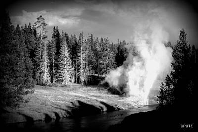 Photograph - Geyser by Carrie Putz