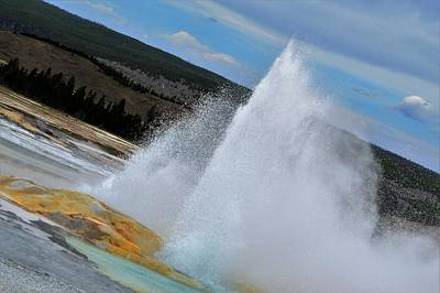 Photograph - Geyser by Michelle Hoffmann