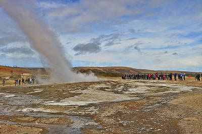 Photograph - Geysir Hot Spring by Allen Beatty