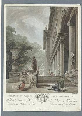 Op Painting - Gezicht Op De Villa Medici by Celestial Images