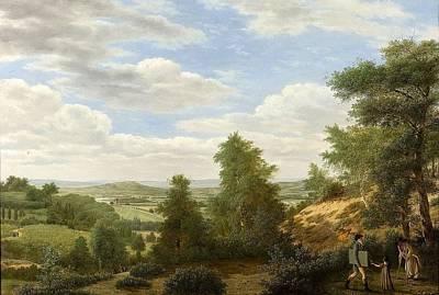 Op Painting - Gezicht Op De Vlakte Van Montmorency Bij St Leu by Pieter Rudolph