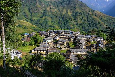 Photograph - Ghandruk Village In The Annapurna Region by Dutourdumonde Photography
