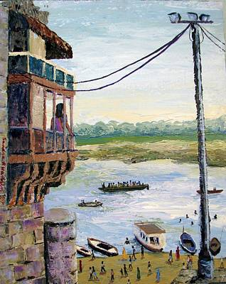 Painting - Ghats From Above by Art Nomad Sandra  Hansen