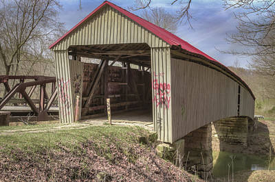Music Royalty-Free and Rights-Managed Images - Gheers Mill/Humpback/Ponn Covered Bridge  by Jack R Perry