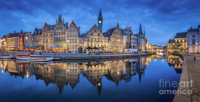 Photograph - Ghent Twilight View by JR Photography