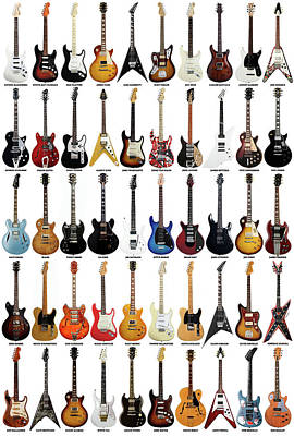 Celebrities Royalty-Free and Rights-Managed Images - Guitar Legends by Zapista OU