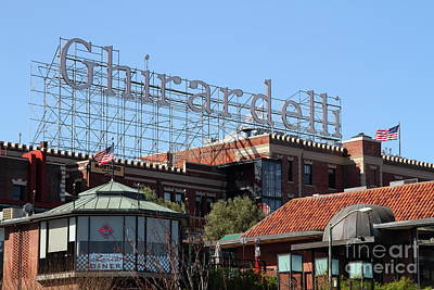 Photograph - Ghirardelli Chocolate Factory San Francisco California 7d13978 by San Francisco Art and Photography