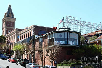 Photograph - Ghirardelli Chocolate Factory San Francisco California 7d14093 by San Francisco Art and Photography