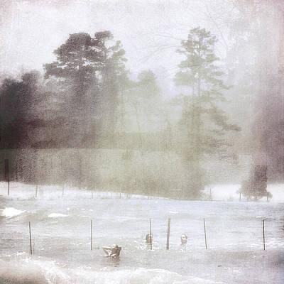 D Wade Digital Art - Ghost And Shadows II - Farm, Sea, And Sun by Melissa D Johnston
