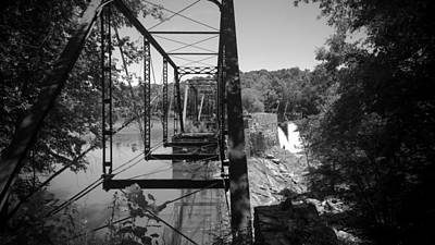 Photograph - Ghost Bridge In Black And White by Kelly Hazel