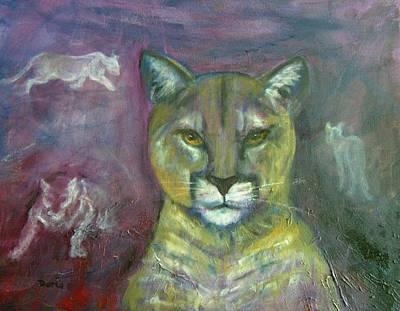 Ghost Cat Art Print by Darla Joy  Johnson