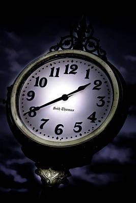 Photograph - Ghost Clock by Mark Andrew Thomas