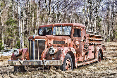 Photograph - Ghost Fire Truck by Alana Ranney
